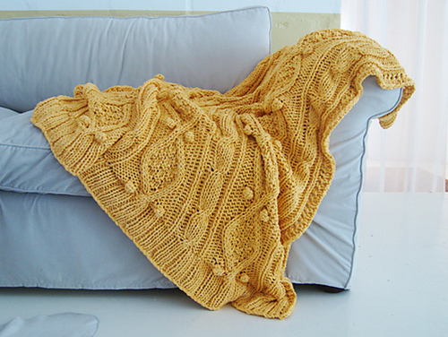 Ravelry Knitting Pattern For Chunky Cotton Cable Knit Throw Pattern