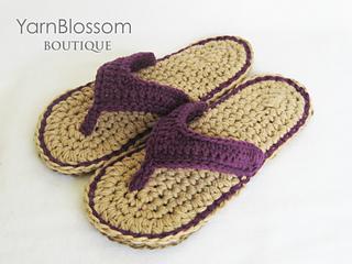 40b483ec9a070e Ravelry  Violet Flip Flops pattern by Yarn Blossom Boutique