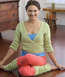 Yoga Leg Warmers Knitting Pattern : Ravelry: Yoga Wrap Sweater & Leggings WR1705 pattern by Lisa Gentry
