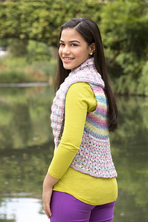 677cf09c67ed6 Ravelry  Teen Endless Circle Vest pattern by Julie Farmer