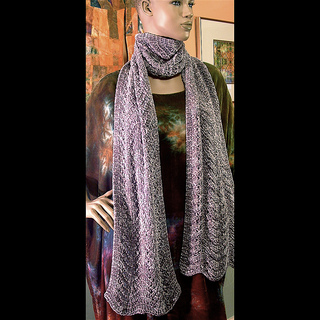 Ravelry Bulky Rayon Chenille Lace Scarf Pattern By Blue Heron Yarns