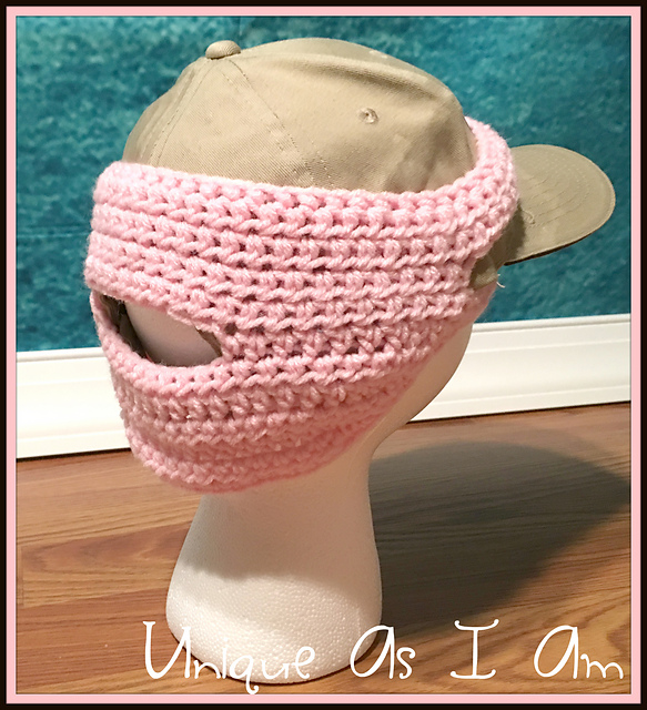 patterns   Susan Preston s Ravelry Store.   Girl s Ball Cap Earwarmer w  Ponytail  Hole 17be20745ce