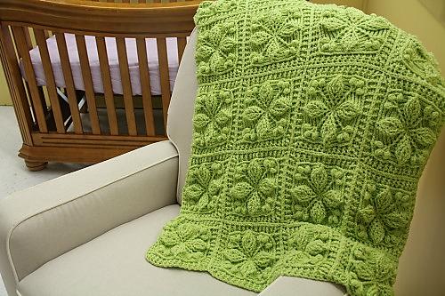 Ravelry Embossed Garden Baby Blanket Pattern By Bonita Patterns