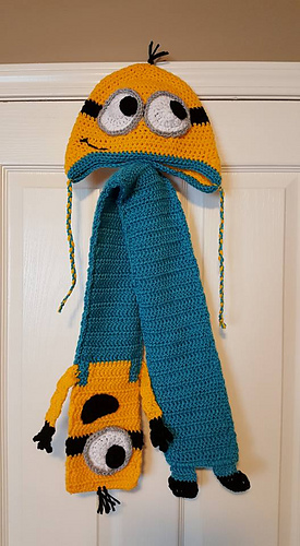 Ravelry: Minion Earflap Beanie pattern by Janet Carrillo
