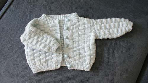 Ravelry Basket Weave Baby Sweater Pattern By Carole Barenys