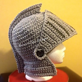 ravelry extra thick knights helmet pattern by briecrochet designs 2013