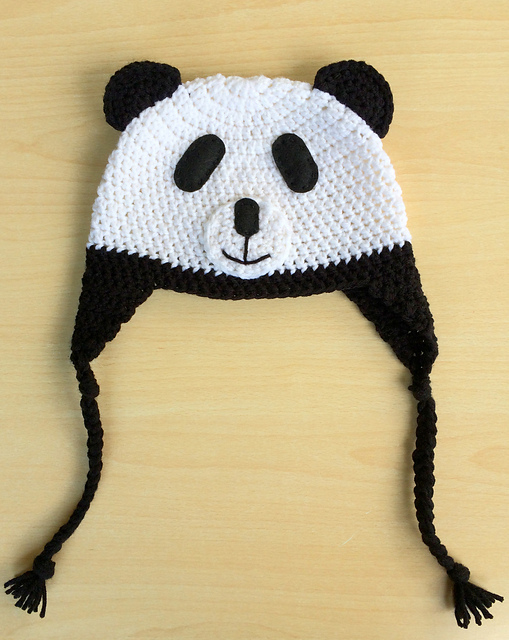 Ravelry Crochet Panda Hat Pattern By Brittany Coughlin