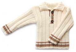 Child's Collared Sweater + Hat PDF