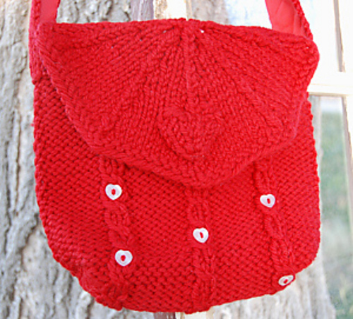 Ravelry Hearts Cables Purse Pattern By Lorna Miser