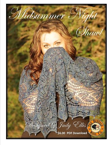 Midsummer Night Shawl by Judy M. Ellis, Handiwords Ltd LLC !!}