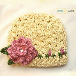 933e8a522 Ravelry: Pretty Flower Hat pattern by Stacey Williams