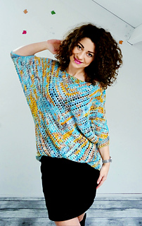 77afa3e8dd Ravelry  Starry Night Blouse pattern by By Katerina