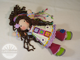 Doll YUNA pattern by CAROcreated design