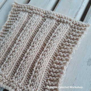 Ravelry: Fancy Slip Stitch Rib Square pattern by Joanita Theron