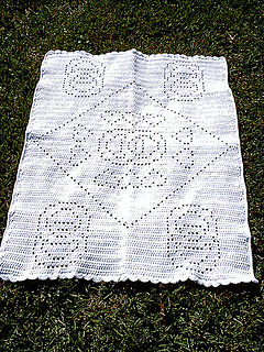 Ravelry Wedding Ring Filet Afghan Pattern By Lesley Pridgen
