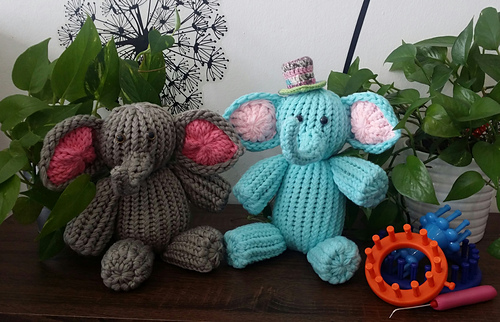 Christie Foo's Loom Knit Baby Elephant Pattern