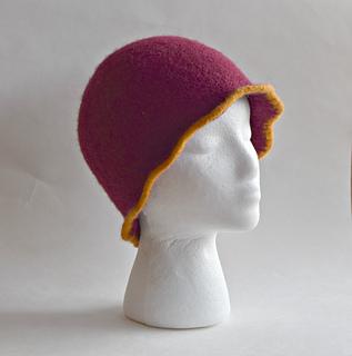 Ravelry  Wavy Edge Cloche Felted Hat pattern by Cindy Pilon 57956363f01b