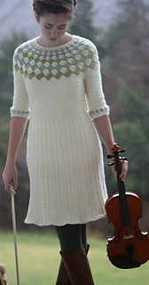 Ravelry: Cecilias Song entrelac cable sweater dress pattern by Carol Wells