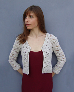 Ravelry Jacket With Triangle And Diagonal Patterns Pattern By