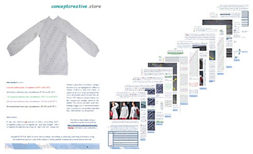 61bc501f5e47 Ravelry  Origami Sweater Heuristic pattern by conceptcreative.store