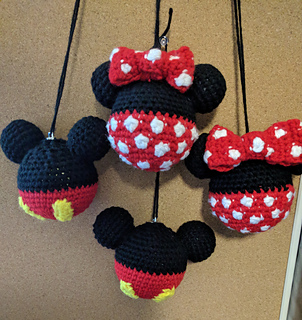 patterns > Caia CrochetCreations' Ravelry Store. > Mickey Mouse and Minnie Mouse Christmas Ornaments