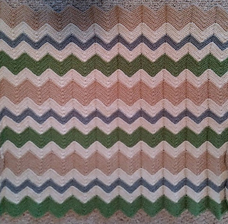 Ravelry Gender Neutral Chevron Baby Blanket Pattern By Caitlins