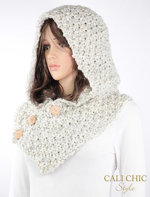 Ravelry: Elena Hooded Cowl #804 pattern by Kyoko - Cali Chic