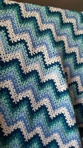 Ravelry V Stitch Ripple Afghan Pattern By Kara Gunza
