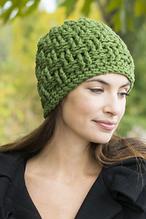 62357a99bfa Ravelry  Basketweave Hat pattern by Anna R. Simonsen