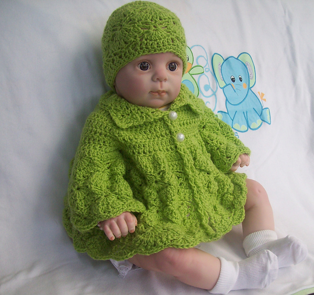 Ravelry The Shy Butterfly Baby Sweater Pattern By Cathy Wood