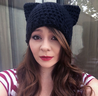 Kitty Ear Beanie by Cayla Mullins. © Useless Pebble Designs f80d77cf8cc