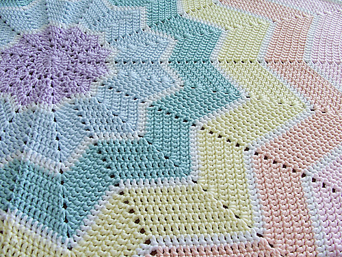 Ravelry Rainbow Ripple Baby Blanket Pattern By Celeste Young