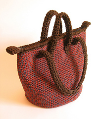 ravelry double handle bag pattern patr n bolso doble asa pattern by maria isabel. Black Bedroom Furniture Sets. Home Design Ideas