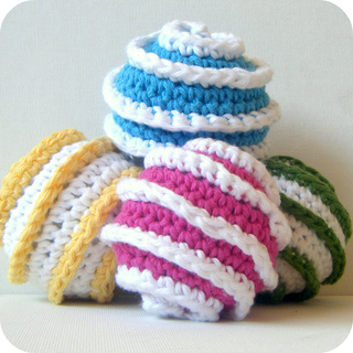 Ravelry toy ball crochet pattern galaxy spiral prototypes for How to crochet cat toys