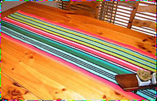 Mexican Table Runner By Jenny King. © Jenny King