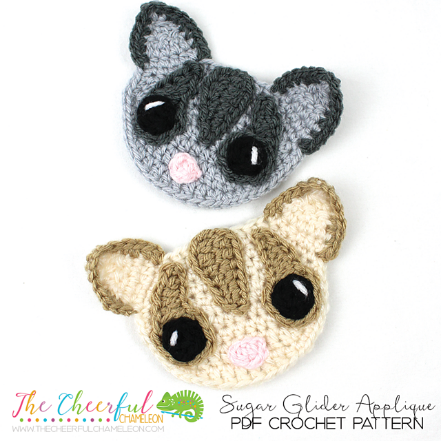 Ravelry: Smiling Sugar Glider Applique pattern by Charlyn Smith