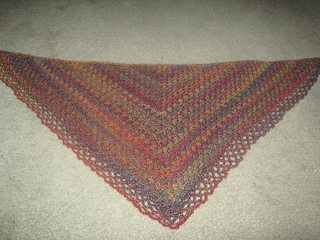 Ravelry Crochet Triangular Shawl Pattern By Jan Corbally