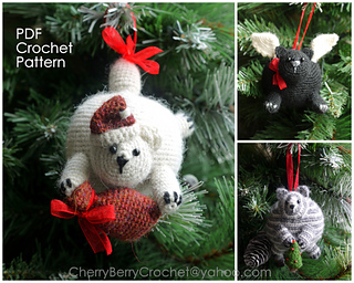 Ravelry Christmas Cats Ornaments Pattern By Cherry Berry Crochet