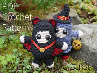 Amigurumi Halloween Free : Ravelry: halloween spirits pattern by cherry berry crochet