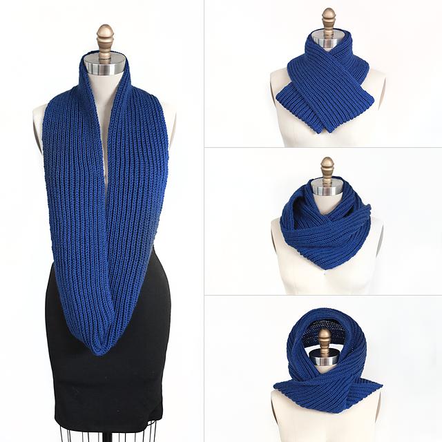 Ravelry: 4-Way Brioche Infinity Cowl pattern by Bonne Marie