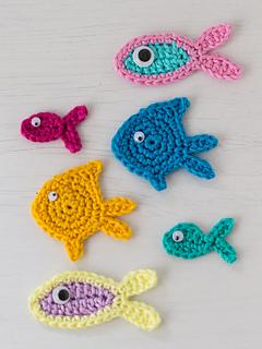 Ravelry Three Little Fish Crochet Appliques Pattern By Carmen Rosemann