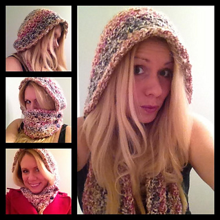Ravelry hooded infinity scarf with buttons pattern by debi dearest dt1010fo