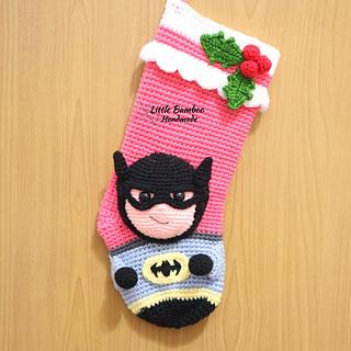 ravelry batman christmas stocking comics inspired pattern by little bamboo handmade