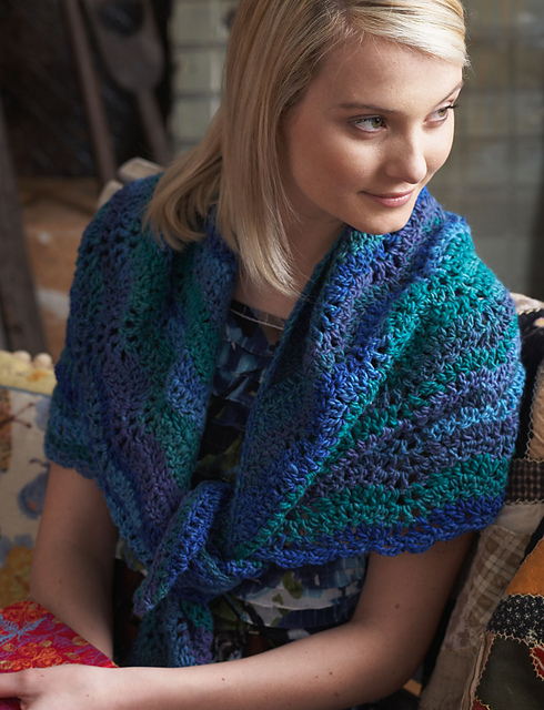 Ravelry Mosaic Shawl 4922 Pattern By Bernat Design Studio