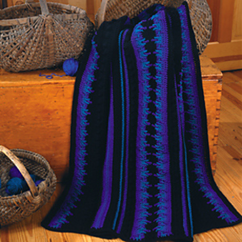 Ravelry Blacklight Beauty Afghan Pattern By Fran Hetchler