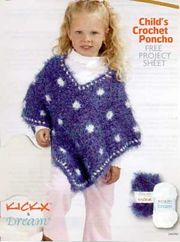 Ravelry Moda Dea Lm0190 Childs Crochet Poncho Patterns