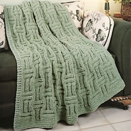 Ravelry Quick Knit Basketweave Afghan Pattern By Carole Prior
