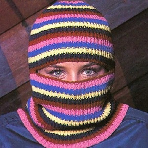 Ravelry Striped Ski Mask Pattern By Edna Lipner