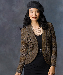 Midnight Shrug pattern by Alice Tang