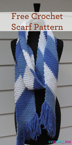 Ravelry: Retro Striped Scarf pattern by Marcy Smith